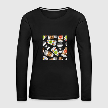 Luxury Illustration coffee to go - Women's Premium Long Sleeve T-Shirt