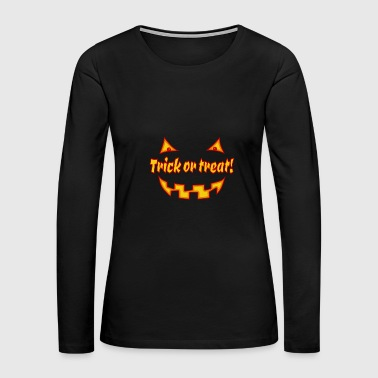 Undead Halloween trick or treat with pumpkinface - Women's Premium Long Sleeve T-Shirt