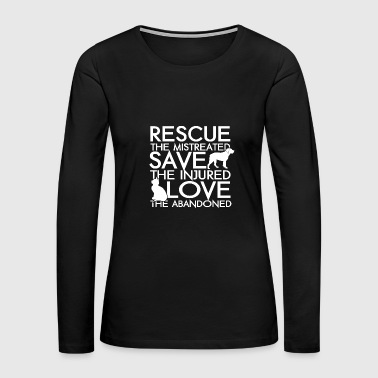 Rescue animals - Rescue animals - rescue the mis - Women's Premium Long Sleeve T-Shirt