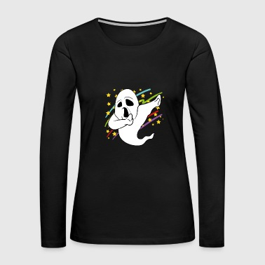 Dabbing Dab Ghost Halloween Disco Party Music - Women's Premium Long Sleeve T-Shirt