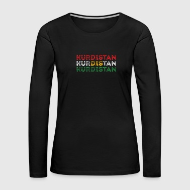 Kurdistan Text Flag Kurdish Pride Design - Women's Premium Long Sleeve T-Shirt