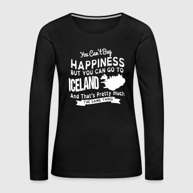 Happiness Iceland Shirt - Women's Premium Long Sleeve T-Shirt