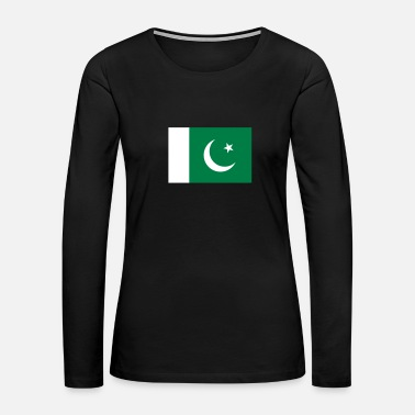 Mosque National Flag Of Pakistan - Women's Premium Long Sleeve T-Shirt