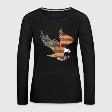 Cool American Drinking Shirt Patriotic Shirt With Eagle - Women's Premium Long Sleeve T-Shirt