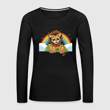 Rainbow Lion - Women's Premium Long Sleeve T-Shirt