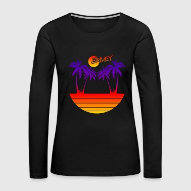 EMVEY - Palm Tree Sunset - Women's Premium Long Sleeve T-Shirt