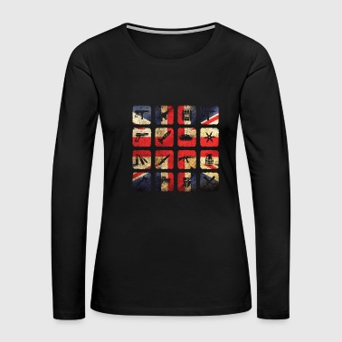 Great Britain Flag England London Military - Women's Premium Long Sleeve T-Shirt