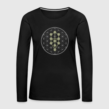 Tree of Life kabbalah - Women's Premium Long Sleeve T-Shirt