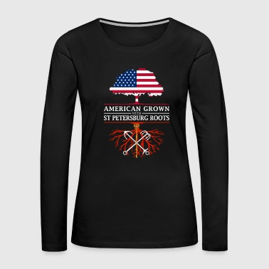 American Grown with St Petersburg Roots - Women's Premium Long Sleeve T-Shirt