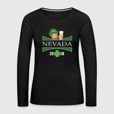 St Patricks Day Shirt Men Nevada St Patrick Day Womens - Women's Premium Long Sleeve T-Shirt