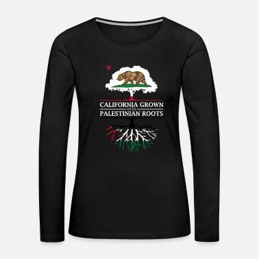 Palestinian California Grown with Palestinian Roots - Women's Premium Long Sleeve T-Shirt