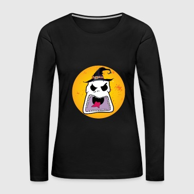 Halloween - face - Women's Premium Long Sleeve T-Shirt