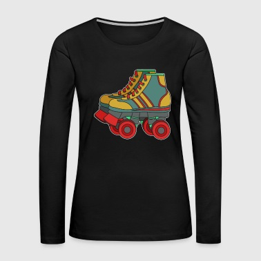 Classic & Cool Tshirt Design Roller Blades - Women's Premium Long Sleeve T-Shirt
