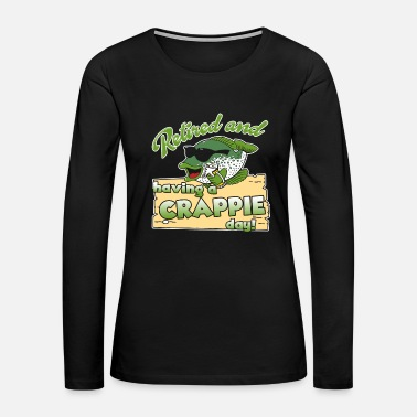 Crappie Fishing Crappie Fishing Shirt - Women's Premium Long Sleeve T-Shirt