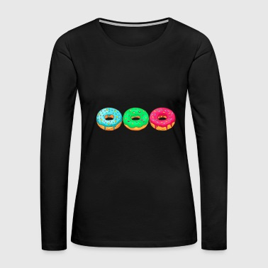 Donuts Bakery Cookie Candy Sweets Cake Confiserie - Women's Premium Long Sleeve T-Shirt