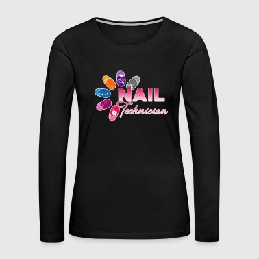 Nail Nail Technician Cartoon Shirt - Women's Premium Long Sleeve T-Shirt