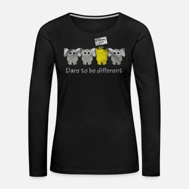 Different Elephant Dare to be different - Women's Premium Long Sleeve T-Shirt