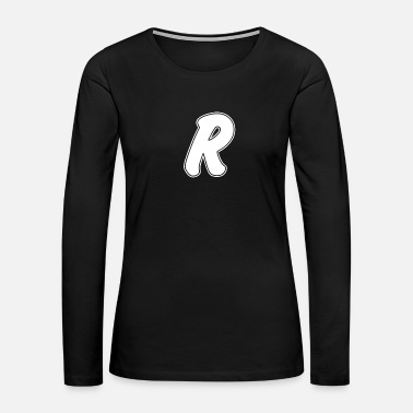 Letters Of The Alphabet R - Style - Women's Premium Long Sleeve T-Shirt