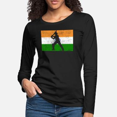 Cricket Cricket India Indian Flag - Women's Premium Longsleeve Shirt