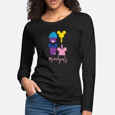 Tea An ice cream MickeyTheme Tshirt Design Sweets - Women's Premium Longsleeve Shirt