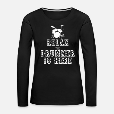 Percussion Drummer drum gift music band funny saying snare - Women's Premium Long Sleeve T-Shirt