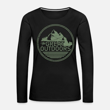 Rope Mountain climber adventure vacation gift rock free - Women's Premium Long Sleeve T-Shirt
