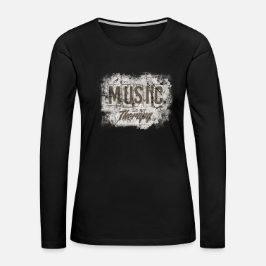 Skirt Music Musicians Headphones Gift Idea - Women's Premium Long Sleeve T-Shirt