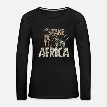 Giraffe Africa Safari - Women's Premium Long Sleeve T-Shirt