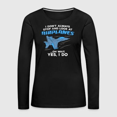 Hubby Military Jet Aircraft Fighter Airplane Spotter Gif - Women's Premium Long Sleeve T-Shirt