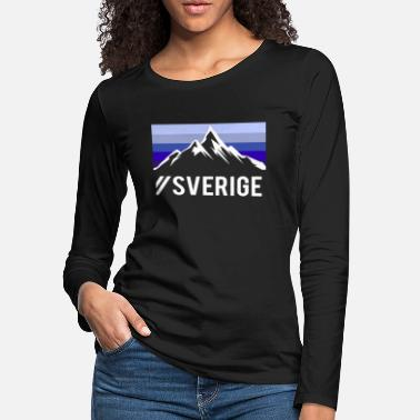 Mountain Climbing sverige sweden mountains gift - Women's Premium Longsleeve Shirt