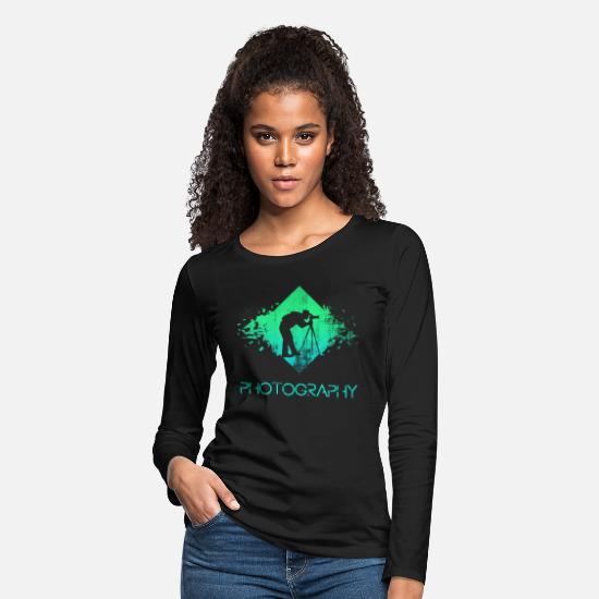 Photographer Long-Sleeve Shirts - photographer - Women's Premium Longsleeve Shirt black