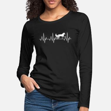 Equitation Heartbeat Horses Riding Harness Racing Equitation - Women's Premium Longsleeve Shirt