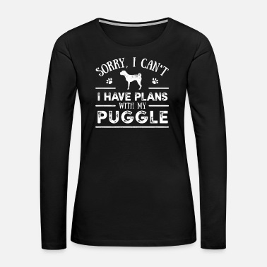 Dog Sayings Funny Puggle Dog Saying - Women's Premium Long Sleeve T-Shirt