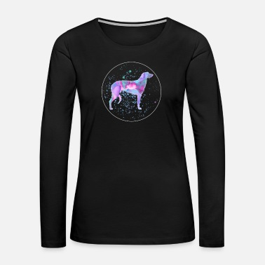 Idea Scottish Deerhound Watercolor Dog Art - Women's Premium Long Sleeve T-Shirt