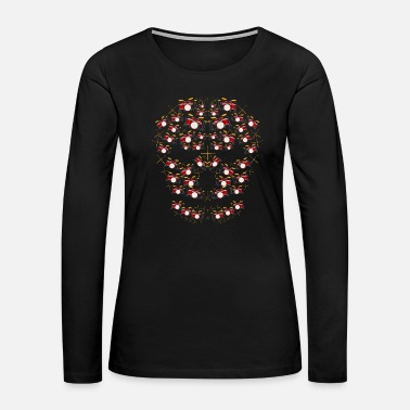 Death Metal Skull Drums | Music Instruments Drummer Sticks - Women's Premium Long Sleeve T-Shirt