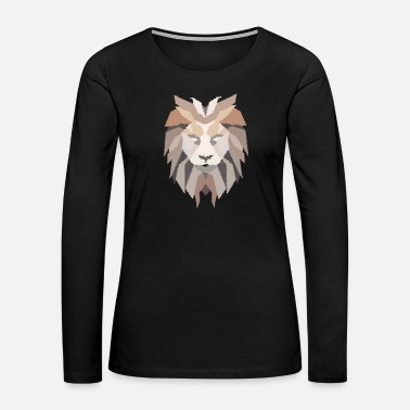 Lion Head Lion Head - Lion Mane - Women's Premium Long Sleeve T-Shirt