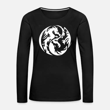 19d4c49359a32 new design Yin Yang tribal dragon best seller Women's Jersey T-Shirt ...