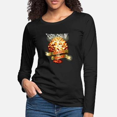 Atomic-power Atomic explosion - mushroom cloud - atomic energy - Women's Premium Longsleeve Shirt