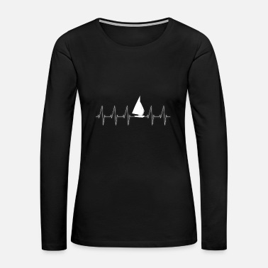 Sailingboat Heartbeat - Sailingboat - Sailor - Women's Premium Long Sleeve T-Shirt