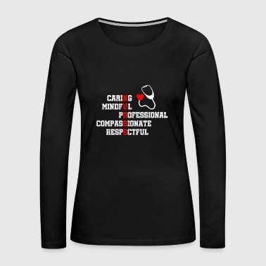 Pretty Nurse Traits With Distress - Limited Edition - Women's Premium Long Sleeve T-Shirt