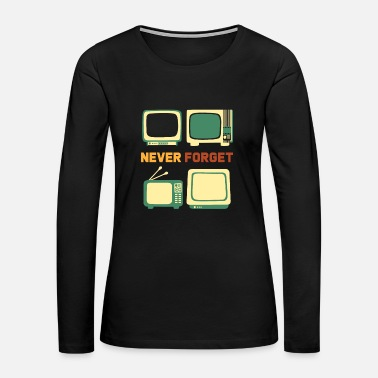 Console Never Forget Oldschool Items - Women's Premium Long Sleeve T-Shirt