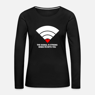Invitation Valentine's Day Love Romantic Heart Wlan Signal - Women's Premium Long Sleeve T-Shirt