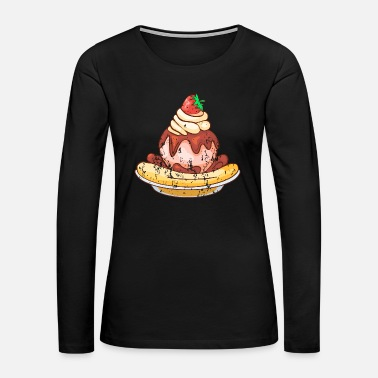 Cold Retro Vintage Grunge Style Ice cream - Women's Premium Long Sleeve T-Shirt