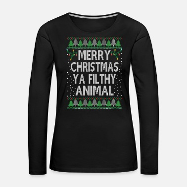 Ugly-christmas-sweater Funny Ugly Christmas Sweater - Women's Premium Long Sleeve T-Shirt
