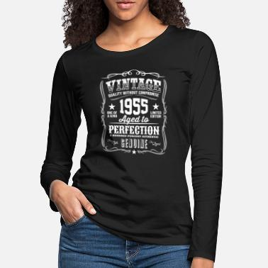 Legend Vintage 1955 Aged to Perfection White Print - Women's Premium Longsleeve Shirt