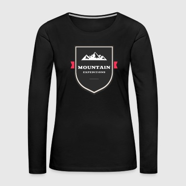 Slackline Mountain - Women's Premium Long Sleeve T-Shirt