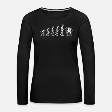 Orangutan Orangutan Orangutan Evolution Shirt - Women's Premium Long Sleeve T-Shirt