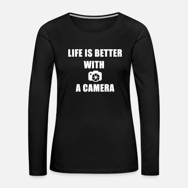 Polaroid LIFE IS BETTER WITH A CAMERA - Women's Premium Long Sleeve T-Shirt