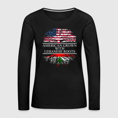 Lebanon American grown with lebanese roots original - Women's Premium Long Sleeve T-Shirt