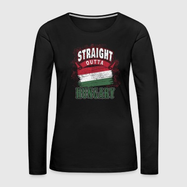 Hungary Hungary Budapest Hungarian flag gift idea Home - Women's Premium Long Sleeve T-Shirt